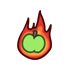 Flaming Green Apple.png